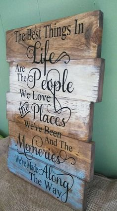 The Best Things in Life Sign Rustic Sign Family Sign Living Room Sign Ho DIY Wood Signs family life Living Room Rustic Sign Wood Pallet Signs, Diy Wood Signs, Rustic Wood Signs, Wood Pallets, Wood Signs For Home, Country Wood Signs, Rustic Wood Crafts, Engraved Wood Signs, Wood Signs Sayings