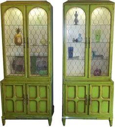 Vintage Hollywood Regency Cabinets