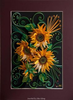 © Neli- Quilled sunflowers pictures (Searched by Châu Khang)