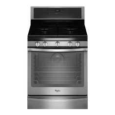Whirlpool 30 in. 5.8 cu. ft. Gas Range with Self-Cleaning Convection Oven in Stainless Steel