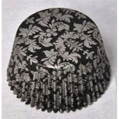 Classy touch to your dessert. These black and silver damask pattern cupcake liners lend a richness when displayed on a cupcake tree or dessert buffet. Standard size cupcake liner, wide on bottom and deep. (Package counts are approximate. Cupcake Liners, Cupcake Holders, Damask Party, Cupcake Tree, Dessert Buffet, Baking Cups, Wedding Planning, Wedding Ideas, Classy