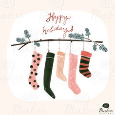 Hanging Stocking design by ShhMakerDesign