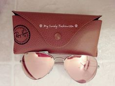 ♕ My Lovely Fashionista ♕: Ray-Ban Original Aviator 58mm Sunglasses, Mirror Lens, Brown Pink