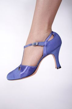 Vintage 1930s Shoes  Stunning Cornflower Blue Dance by FabGabs, $134.00