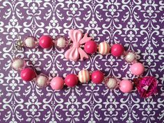 Chunky Bubblegum Necklace Pretty in Pink by NazminsFancyCreation, $23.00