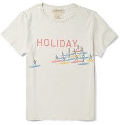 Remi ReliefPrinted Distressed Cotton-Jersey T-Shirt