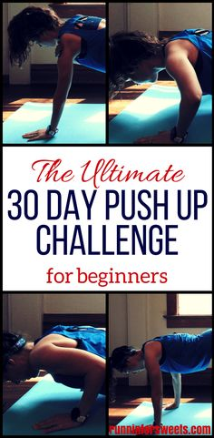 This 30 day push up challenge is the ultimate plan for beginners looking to get better at push ups and build upper body strength. The 14 push up variations start easy and gradually increase in difficulty, leaving you with strong, toned arms after just 30 days. #pushupchallenge #30daypushupchallenge #pushupvariations
