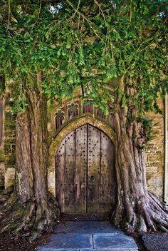 A very magical entrance. St. Edwards Church, Stow-on-the-wold, Gloucestershire, England.