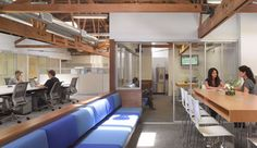 16 Cool Coworking Spaces  --Ready to get out of the basement and into a real office? Before you strike out on your own and get locked into a lease, consider a coworking space. They're more affordable, full of start-up geeks like you, and probably cooler than any office your start-up could afford. Here are 17 spaces to check out. /
