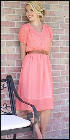 Jillian Dress- Modest Pop This website has a bunch of really cute missionary clothes and offers a discount for sister missionaries!