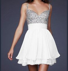 Sparkle & white short dress! Waaaaaant!