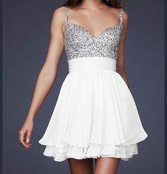 Sparkle & white short dress! Waaaaaant!