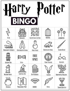 30 Harry Potter themed bingo cards for a Harry Potter themed party or classroom activity. Harry Potter Banner, Harry Potter Birthday Cards, Harry Potter Party Games, Harry Potter Activities, Harry Potter Printables, Harry Potter School, Harry Potter Bday, Harry Potter Classroom, Theme Animation