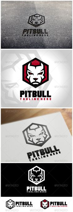 Pitbull Logo Template by VectorCrow Great Pitbull Logo Template for your company File included : .AI .EPS (Vector Format)