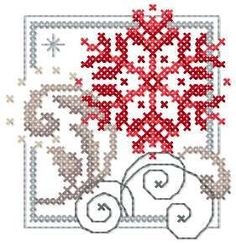 Christmas Snowflake cross stitch free embroidery design - Cross stitch machine embrodiery - Machine embroidery forum