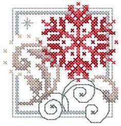 Christmas Snowflake cross stitch free embroidery design - Cross stitch machine embrodiery - Machine embroidery forum