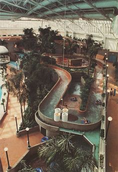 i'm not 100% sure what i'm looking at, but it appears to be a multi-level indoor lazy river, which i endorse.