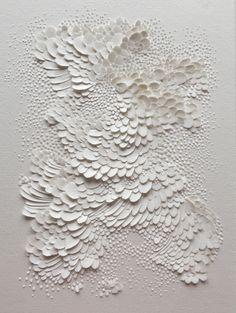 Bas-relief en papier aquarelle grain satiné, format 20x15cm // Lauren Collin