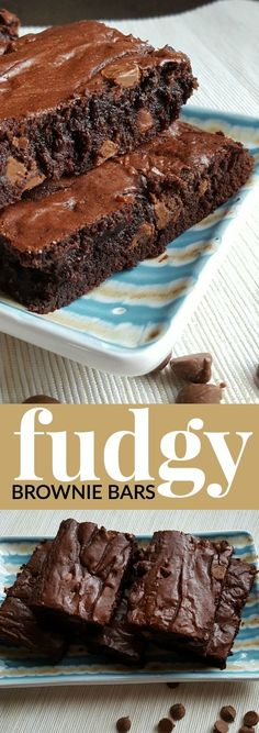 These FUDGY BROWNIE BARS are so yummy, they'll have you scraping the dish to devour every last crumb!