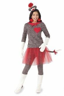 Sock Monkey Costume For Women I  www.chasing-fireflies.com
