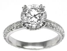 1.51ct Round Cut Diamond Platinum  Engagement Ring