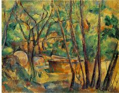 Paul Cezanne - Well - Millstone and Cistern under trees, 1892.