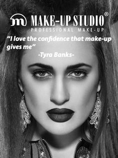 Quote of American supermodel Tyra Banks #makeupstudio #quote #confidence #tyrabanks