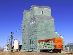 Nanton's Grain Elevators & the Cowboy Highway