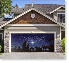Garage Door Decor O Holy Night Scene 2car So Want To Do