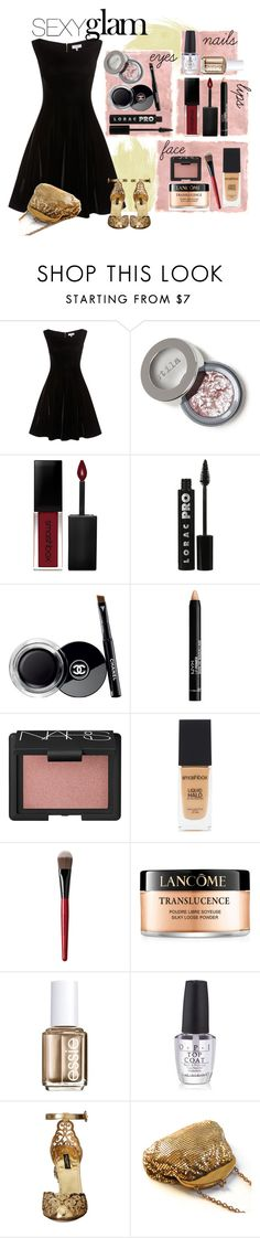 """""""Party Makeup"""" by amiedavis523 ❤ liked on Polyvore featuring beauty, Rothko, Smashbox, LORAC, Chanel, NYX, NARS Cosmetics, Lancôme, Essie and OPI"""