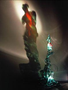 """Diet Wiegman, """"Venus on fire"""" 1985, light sculpture"""