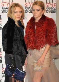 Mary Kate Olsen and Ashley Olsen attend the ELLE Style Awards 2010 at the Grand Connaught Rooms in London on February 22, 2010