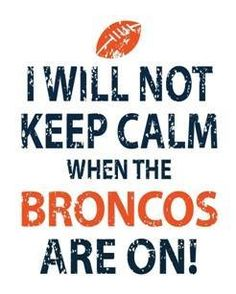 Broncos! How have I never pinned Broncos stuff before?  Worlds collide! KL