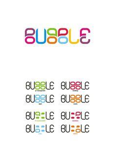 bubble, creative, colorful logo design for sale