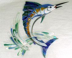 Marine Life Glass Art(Love the water splash)