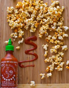 sriracha popcorn