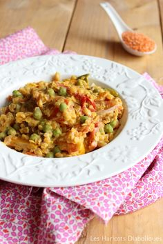 Curry de lentilles corail, poivrons et petits pois (3)