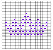 Ravelry: 4 Tiara Bobble Chart Patterns by Kari Philpott