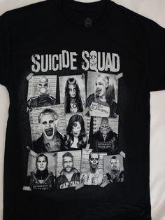 Suicide Squad Movie Harley Quinn Joker Killer Croc Mugshots Dc Comics T-Shirt #DCComics #GraphicTee