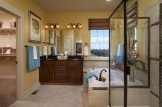 Master bathroom in The Castle Pines model- Charlotte, NC