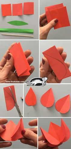 Paper Tulips (krokotak) children activities, more than 2000 coloring pages Kids Crafts, Spring Crafts For Kids, Preschool Crafts, Easter Crafts, Art For Kids, Diy And Crafts, Christmas Crafts, Arts And Crafts, Craft Activities