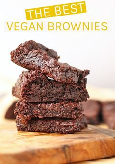 These fool-proof vegan brownies are unbelievably rich and fudgy on the inside with a beautifully cracked topped and a delightful bite for the perfect sweet treat everyone can enjoy. #vegan #veganbrownies #vegandesserts #chocolate