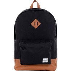 Herschel Supply Co. Heritage Laptop Backpack ($55) ❤ liked on Polyvore featuring bags, backpacks, black, laptop backpacks, pocket bag, herschel supply co bag, laptop rucksack, backpacks bags and black rucksack