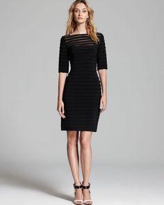 Adrianna Papell Black Illusion Dress