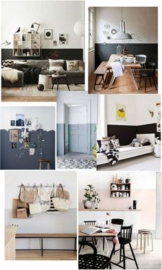 Half painted wall – Kreavilla Draw everything you see. Half Painted Walls, Half Walls, Bedroom Wall, Bedroom Decor, Two Tone Walls, New Room, Modern Interior Design, Wall Design, Home And Living