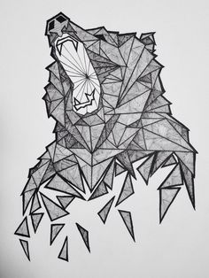 Geometric Bear Sketch More