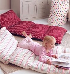 Sew Pillowcases Together & Insert Pillows For A Comfy Movie Night/Kids Sleep Over Pallet!