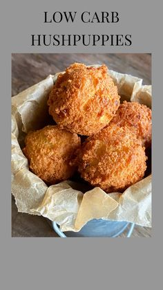 I'm sharing this recipe for low carb hushpuppies from my book Southern Keto. Best Low Carb Recipes, Low Sugar Recipes, Low Carb Dinner Recipes, No Sugar Foods, Low Carb Desserts, Diet Recipes, Sugar Diet, Diet Desserts, Jelly Recipes