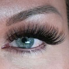 Russian volume technique eyelash extensions. Last twice as long as traditional extensions with twice the fullness.