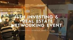 "Great Morning Swiss Investors  Today we will have our 14th Investing & Real Estate Club Networking Event"" DON'T MISS OUT THE LAST EVENT OF THE YEAR IN GENEVA.  Looking for excellent opportunities for passive or active investments? Meeting business partners? Getting a deal? Buying a property or renting it? Getting new clients? If you answered yes to any of the questions above then this is the event for you! This event will be dedicated to Investment networking. During the event all guests…"
